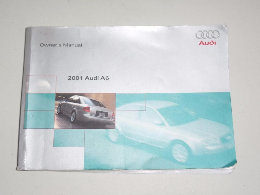2001 audi a6 owners manual book guide owners manuals pinterest 2001 audi a6 owners manual book guide sciox Choice Image