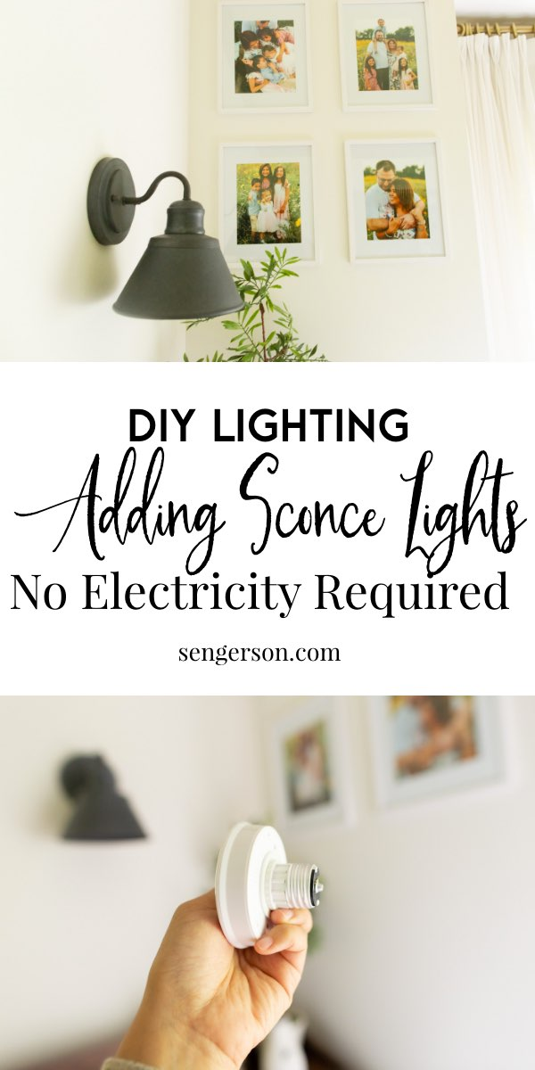 DIY Wall Sconce Lighting without Electricity or Power ... on Sconces No Electric Power id=36591