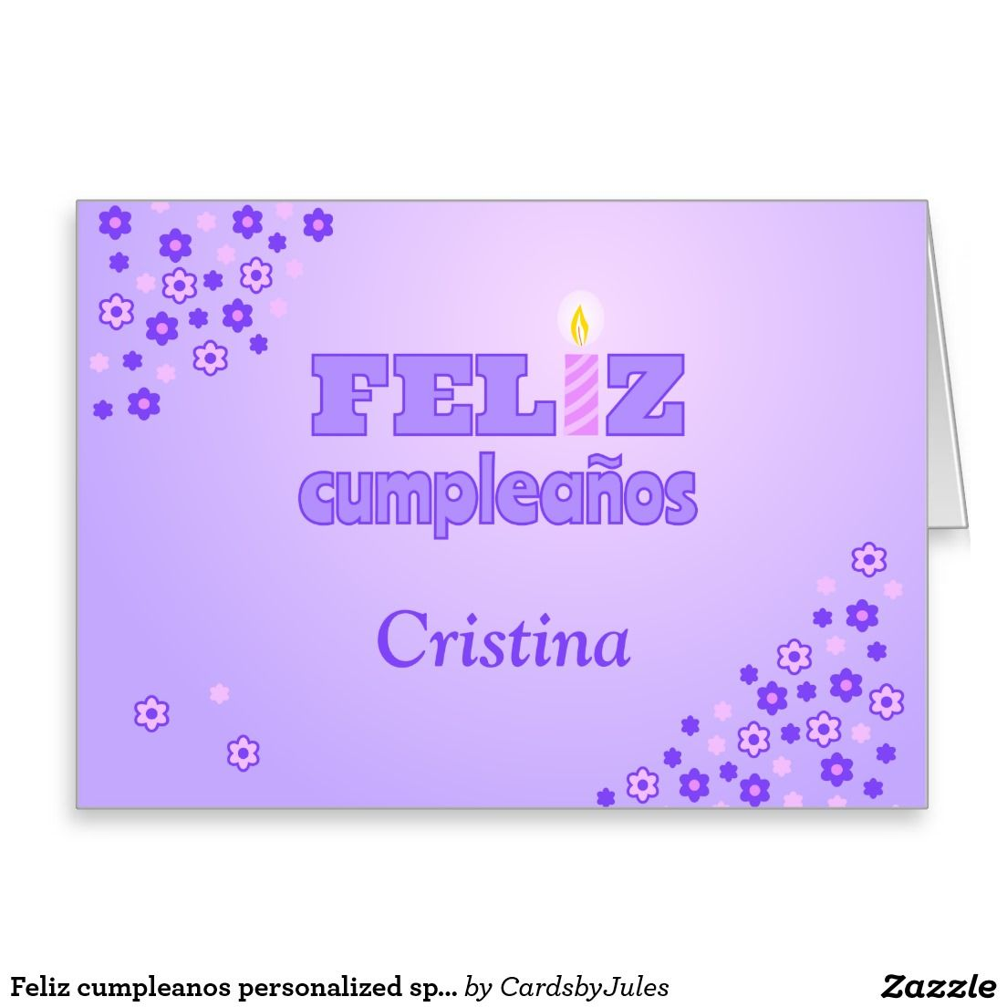 Feliz Cumpleanos Personalized Spanish Birthday Card Zazzle Co Uk Spanish Birthday Cards Birthday Greeting Cards Special Birthday Cards