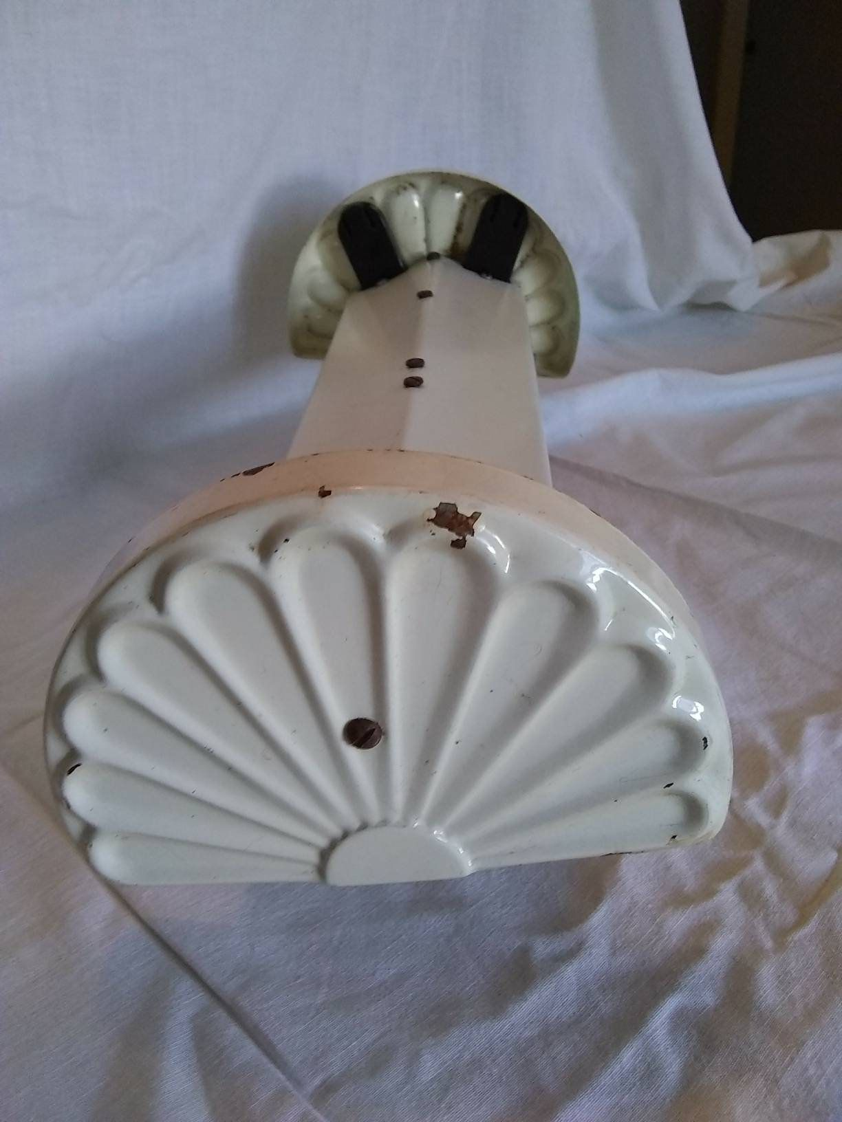 Photo of Art-Deco-Leuchte Shell Fan Ends fluoreszierende Badezimmer Küche Schlafzimmer Vintage Beleuchtung Metall Shabby Cottage Farmhouse Decor