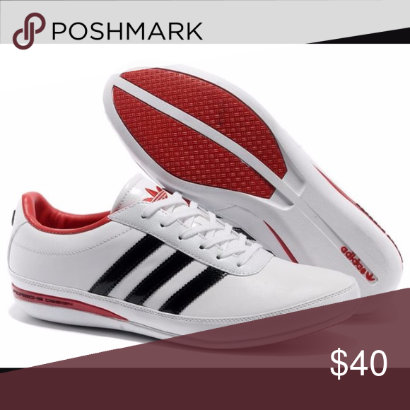 online store 0d4ce 9e0a0 Adidas   MENS Originals Porsche Design Adidas Originals Porsche Design S3  Mens Leather Casual Shoes White Red Black. Description and pictures coming  soon! ...