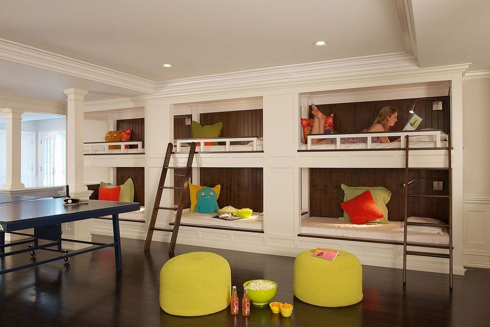 Basement Renovation With Recreation Area And Kitchen