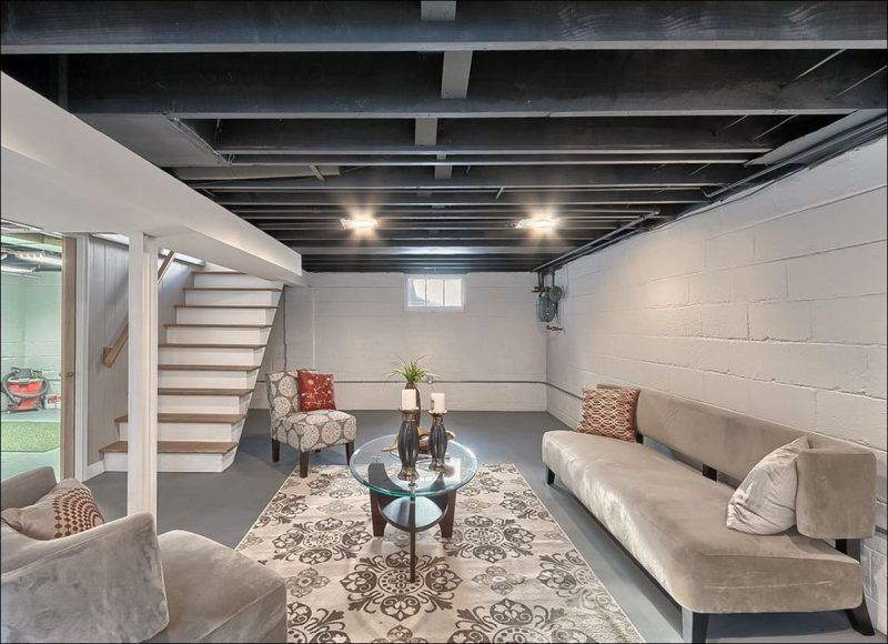 Image Result For Painted Unfinished Basement Ceiling Unfinished