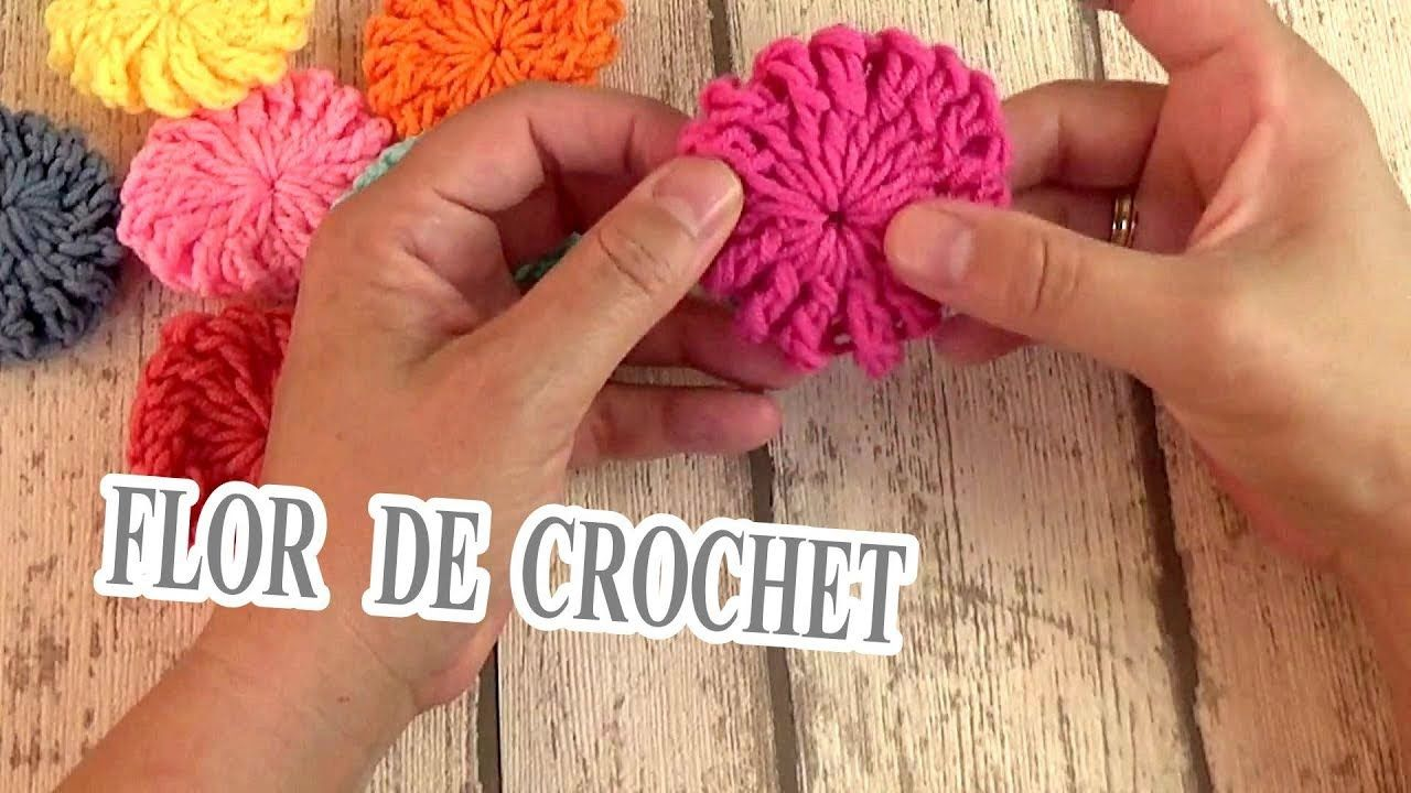 COMO HACER UNA FLOR A Crochet | flor de ganchillo | DIY FÁCIL | You ...