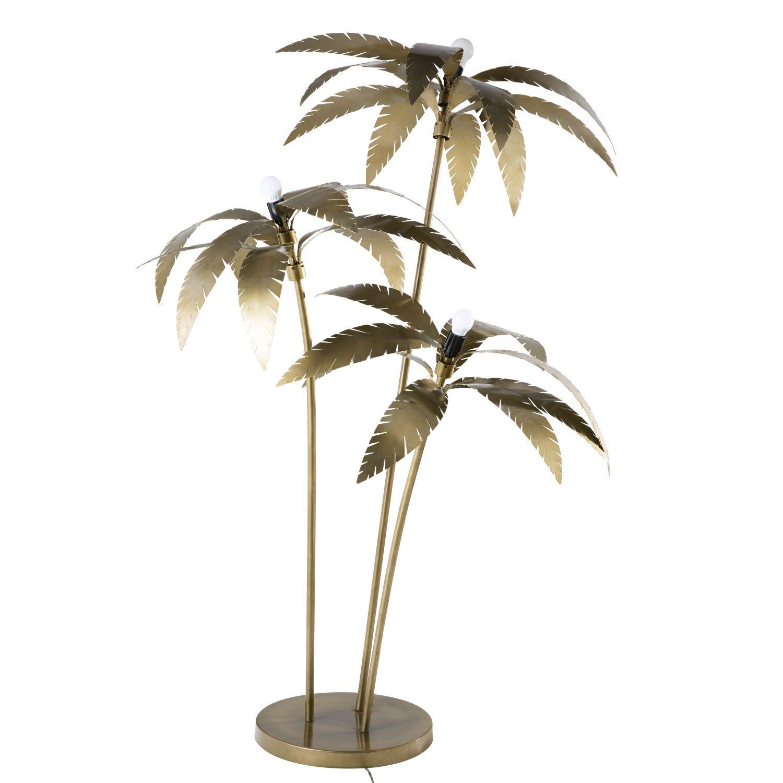 Gold Metal Palm Tree Floor Lamp H 158 Cm Maisons Du Monde Tree Floor Lamp Floor Lamp Lamp