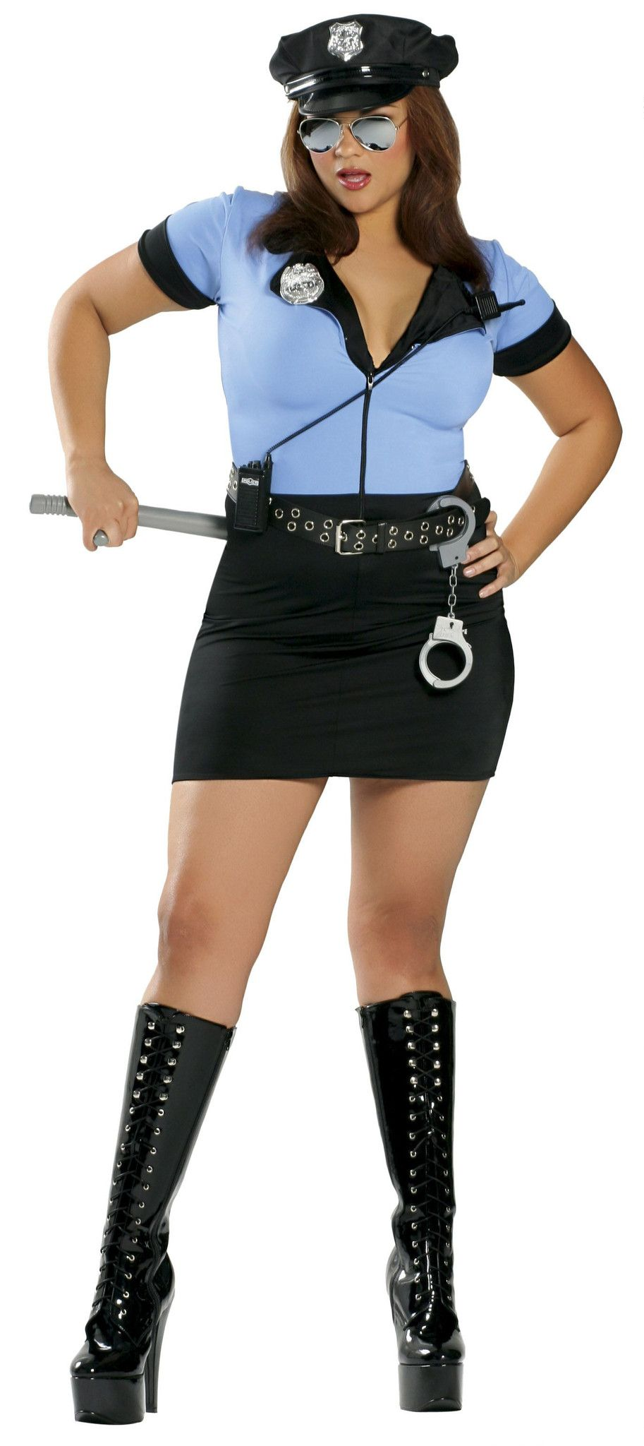 lady police officer cop - costume 7 pieces | halloween & fall