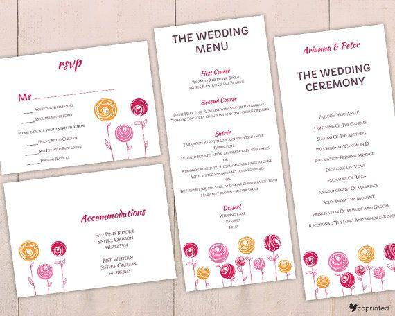 free wedding invitation template, free printables, flower wedding - invitation template nature