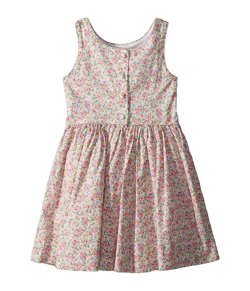 14a51ddd9 Polo Ralph Lauren Kids Floral Cotton Sleeveless Dress (Toddler ...