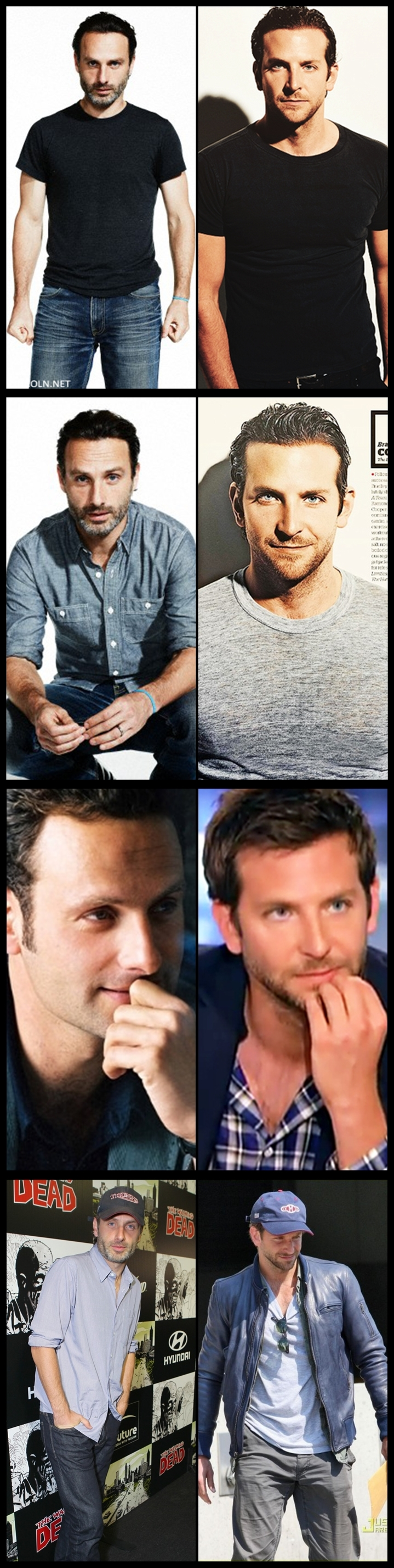 Andrew Lincoln Bradley Cooper Just Happen To Notice Some Similar
