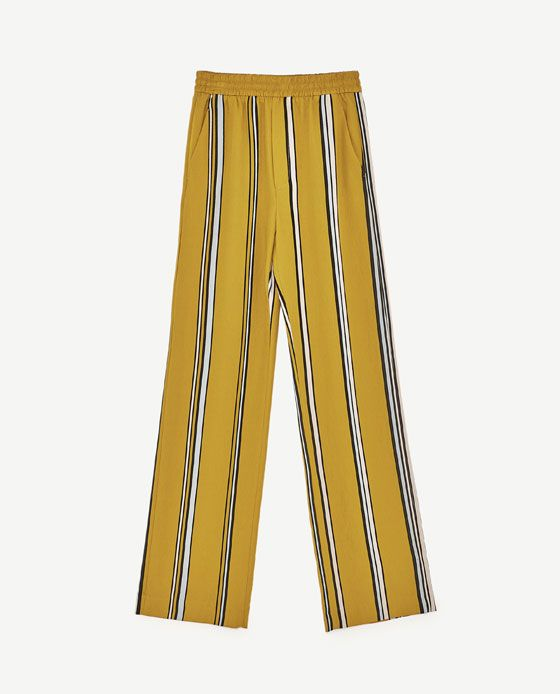 image 8 of striped palazzo trousers from zara fashion. Black Bedroom Furniture Sets. Home Design Ideas