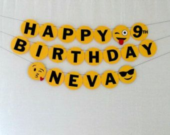 Emoji Birthday Banner Happy Emojis Party By Home Design 1