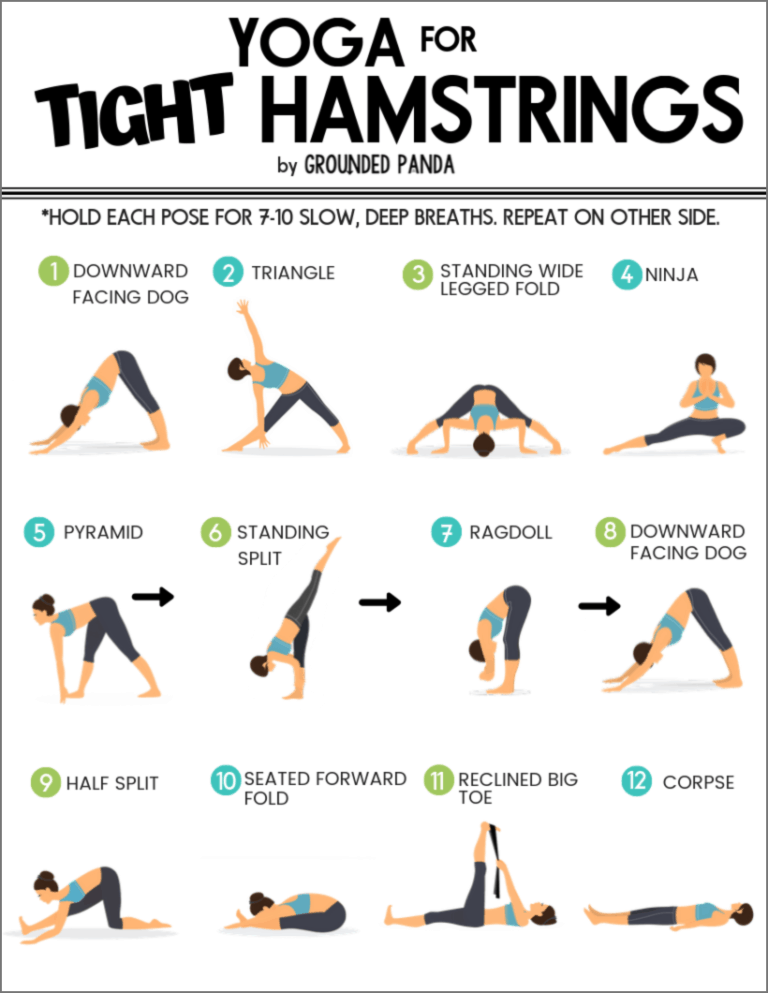 The Best Yoga Poses to Release Tight Hamstrings (Free PDF)