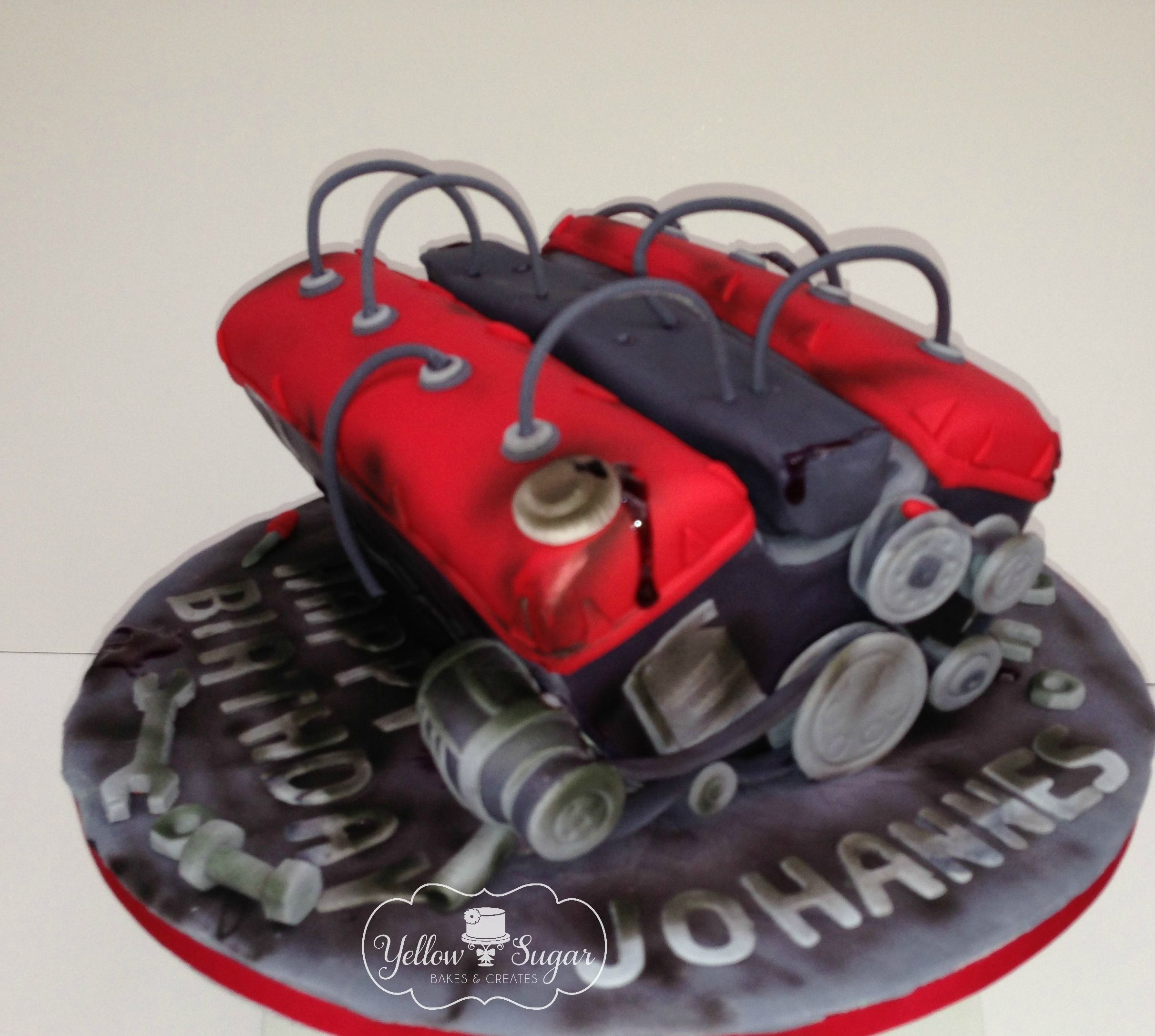 Car engine birthday cake Birthday cake ideas Pinterest Car