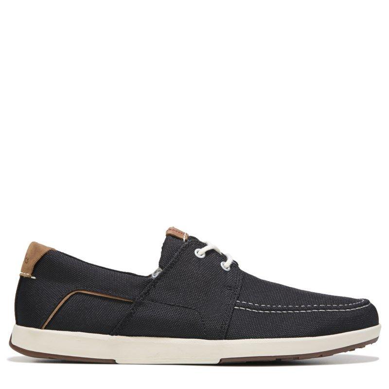 Clarks Men's Norwin Go Oxford Shoes (Black Canvas) - 14.0 M