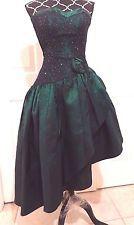 Vtg 80s GUNNE SAX Jessica McClintock Strapless Corset Homecoming Prom Dress XS 2