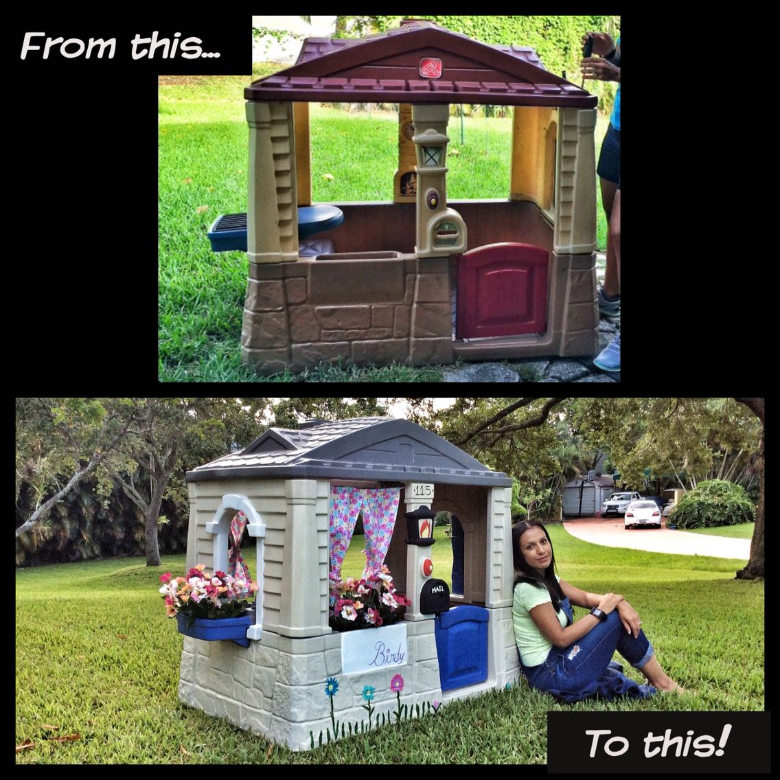little tikes playhouse makeover playground pinterest
