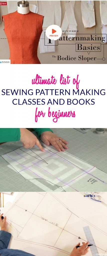 Ultimate List of Online Sewing Pattern Making Classes & Books | Sew ...