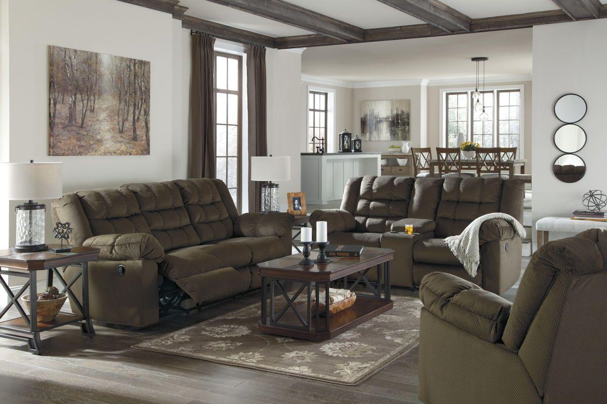 Mort Contemporary Umber Fabric Living Room Set
