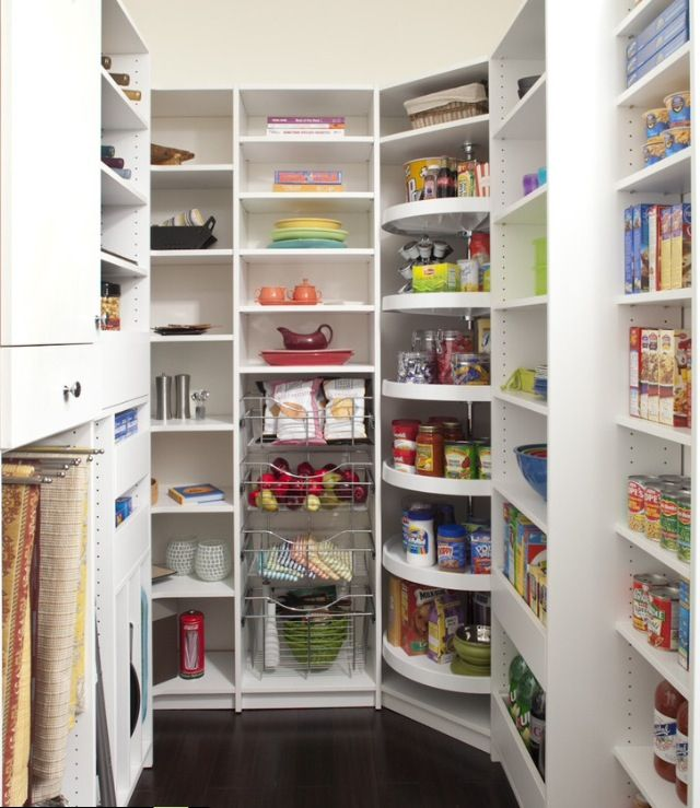 Shallow Open Pantry Shelves In Kitchen: I Love This Pantry. Shallow Shelves So Smaller Items Don't