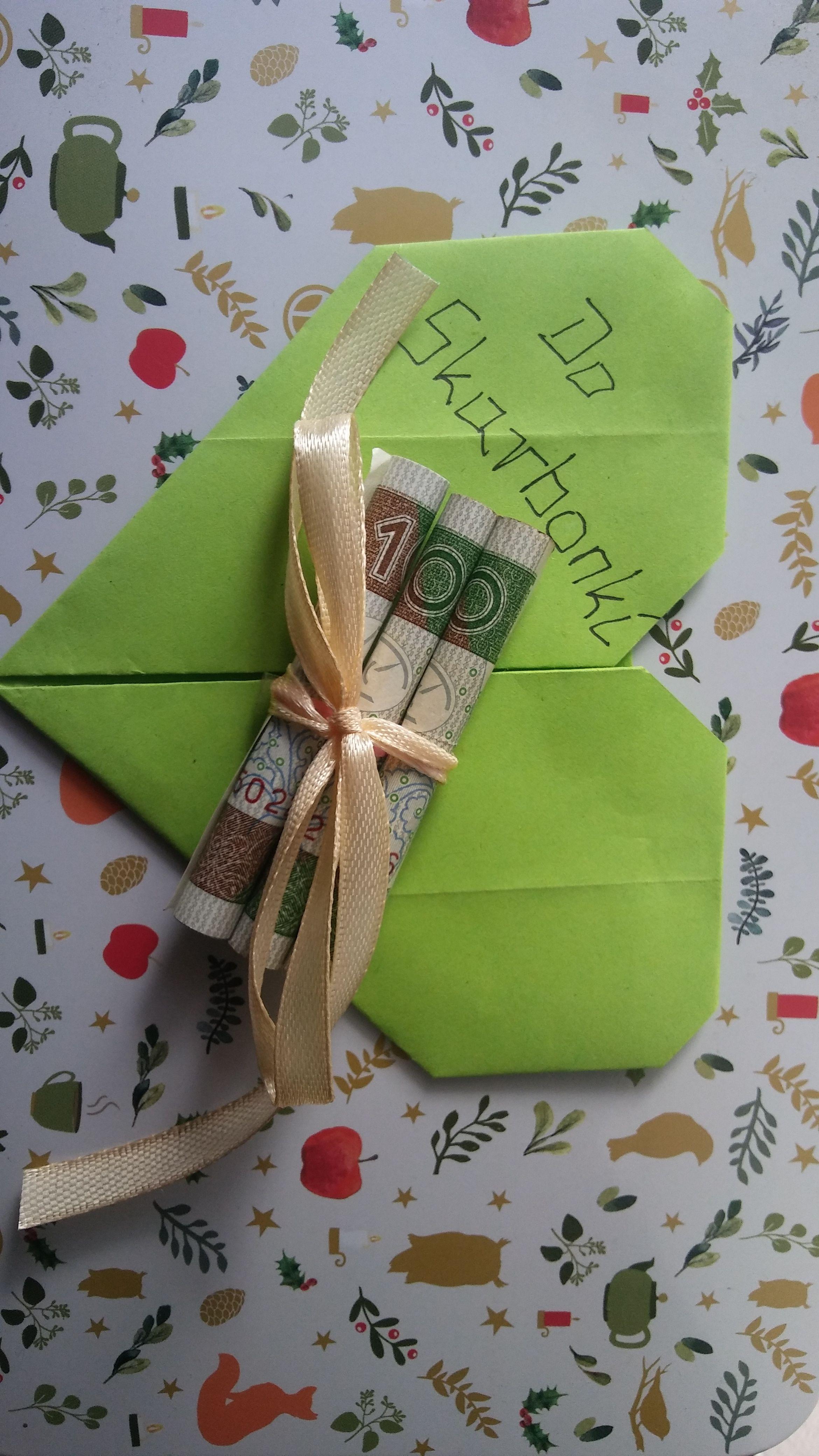 urodziny Inaczej nie w kopercie na serduszku z origami do