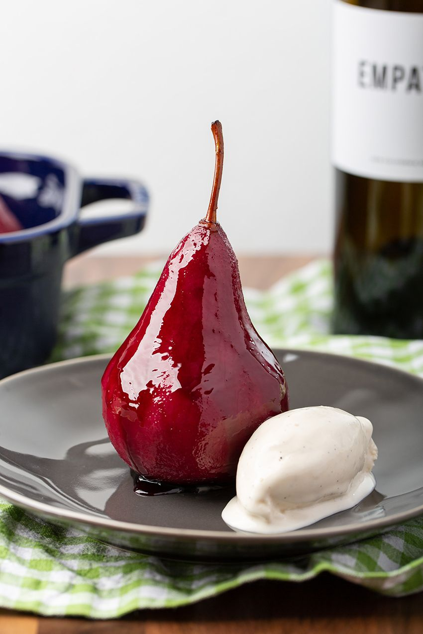 Red Wine Poached Pears The Missing Lokness Recipe Wine Poached Pears Wine Desserts Poached Pears