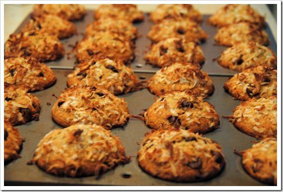 Banana Coconut Chocolate Chip Muffins