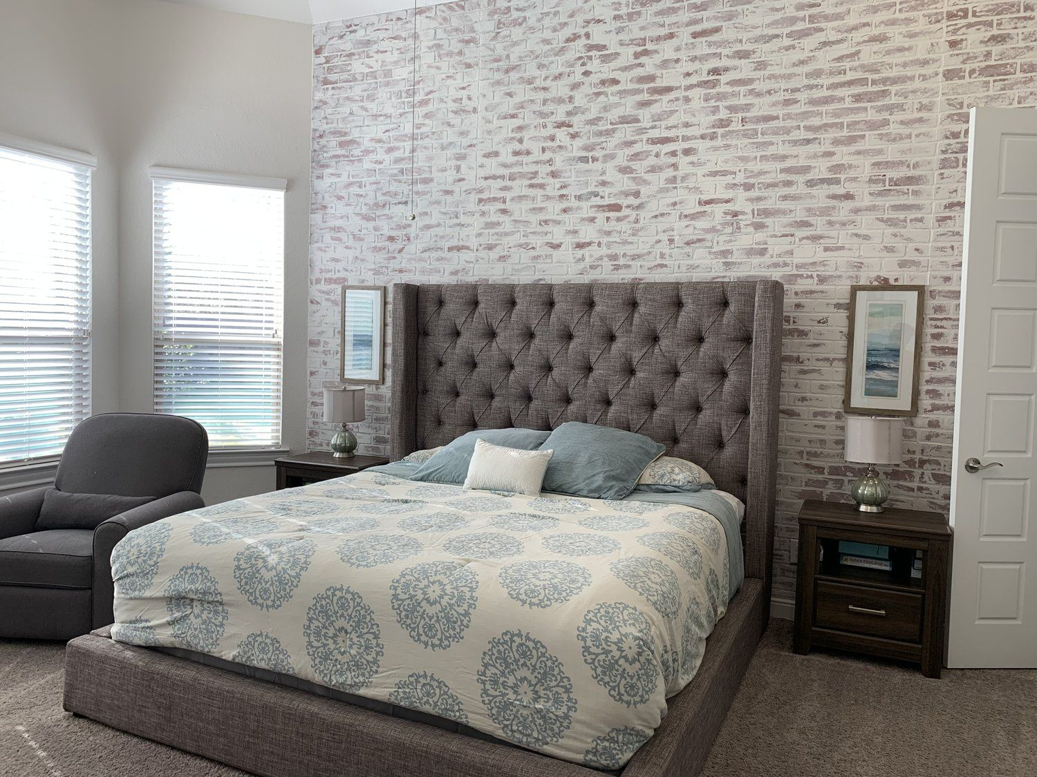 Faux Brick Wall White Washed Faux Brick Panels Faux Brick Wall Decor Bedroom