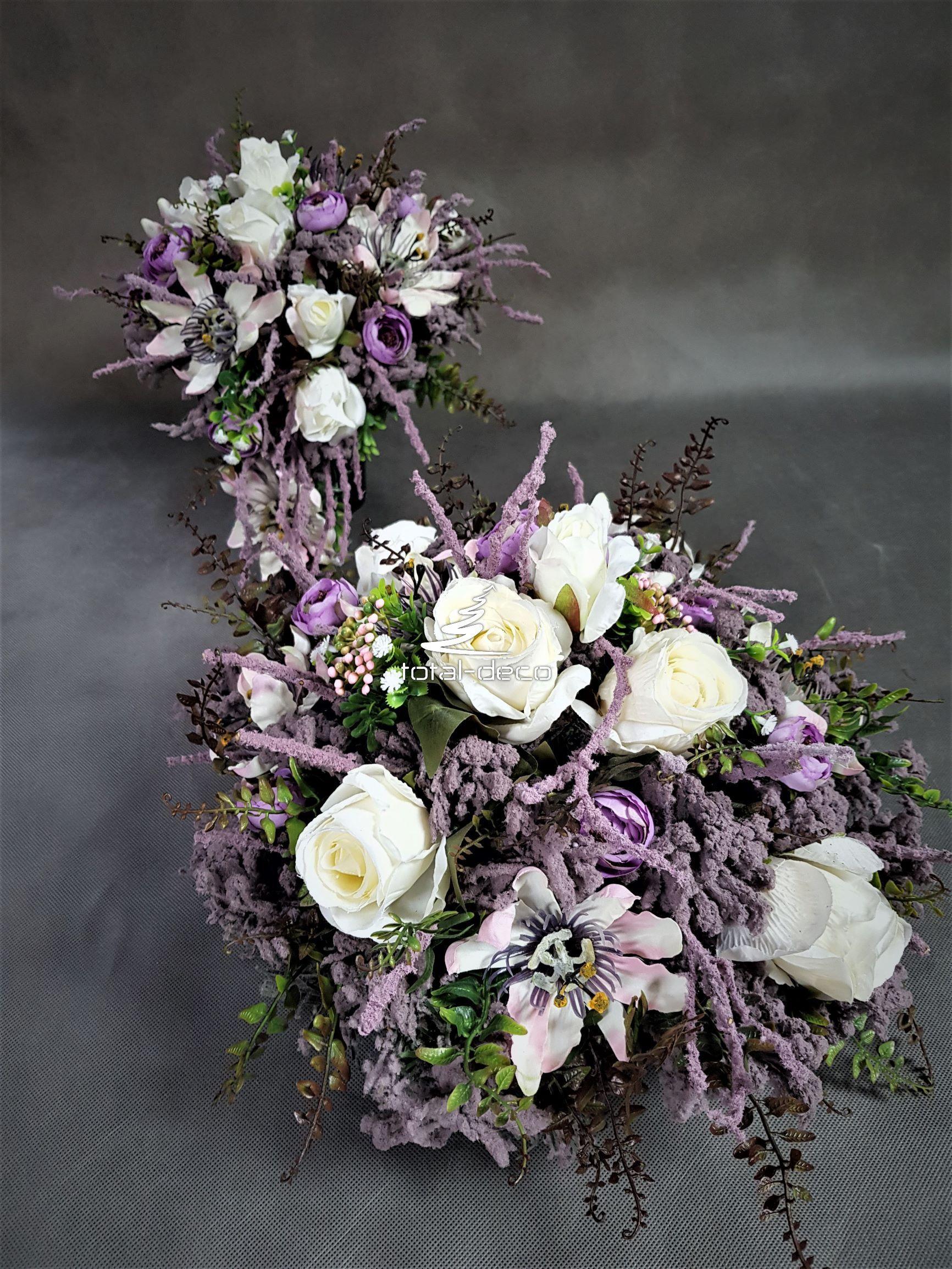 Unikatowe Dekoracje Na Cmentarz Stroik I Bukiet Na Wszystkich Swietych Grave Decorations Floral Wreath Wreaths