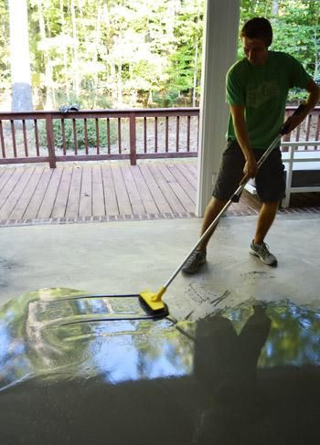 John And Sherry Tried Out Self Leveling Concrete Before Laying Tile On Their Deck Click Through To See The Result