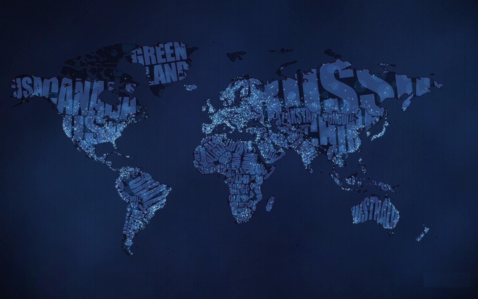 typographic world map night wallpapers hd ololoshenka Pinterest