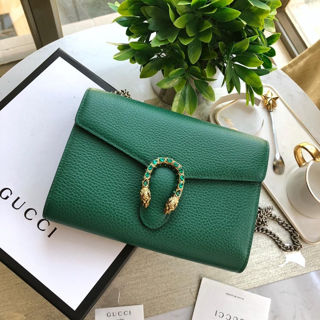 16bb271dc Replica GUCCI Dionysus leather mini chain bag 401231 Green #50302 – Buy  Good Items: Best Quality Replica HERMES, Louis Vuitton GUCCI Handbag,  Watches, ...