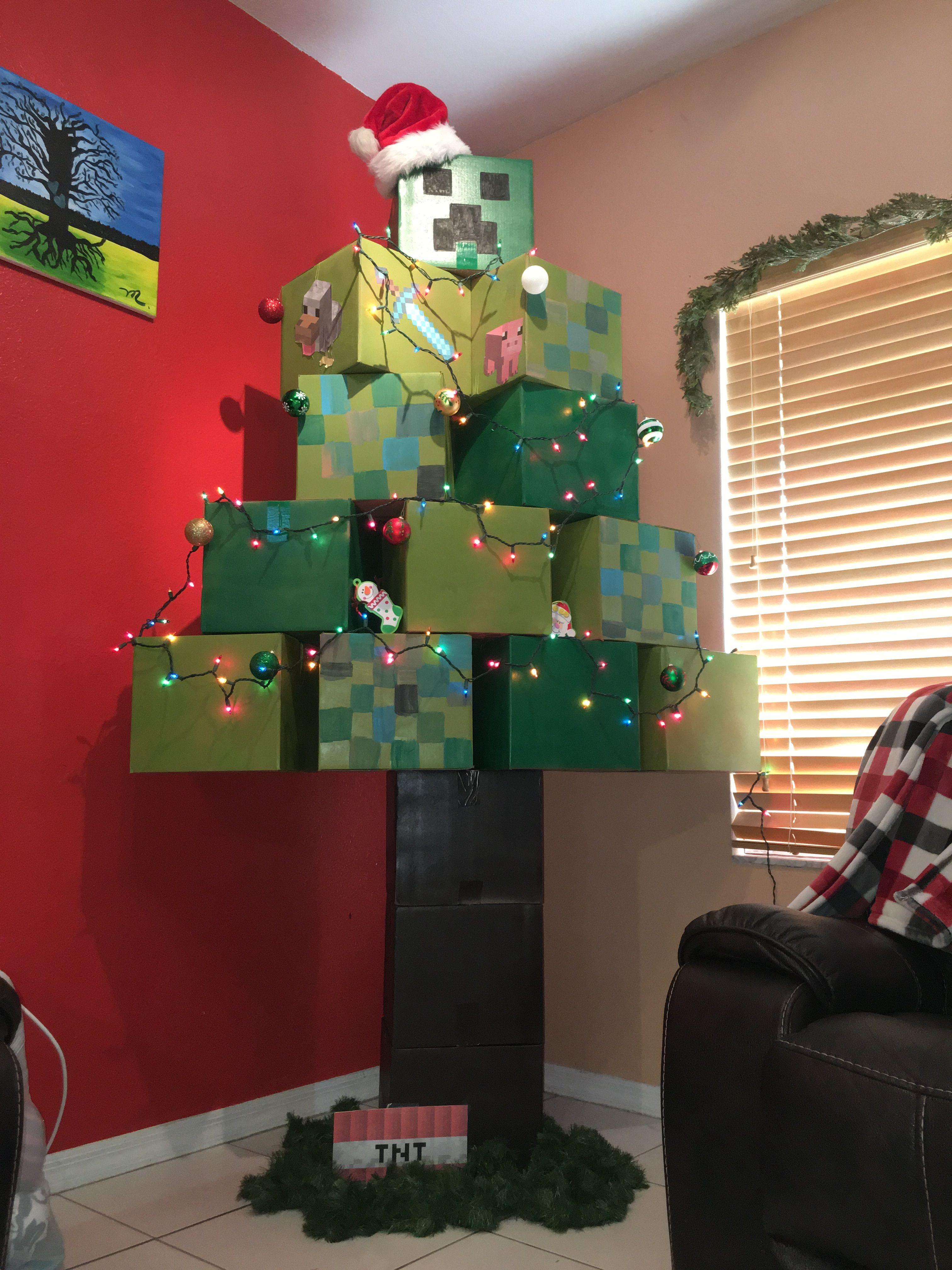 Minecraftmas Christmas Tree Minecraft Christmas Tree Cool Christmas Trees Christmas World