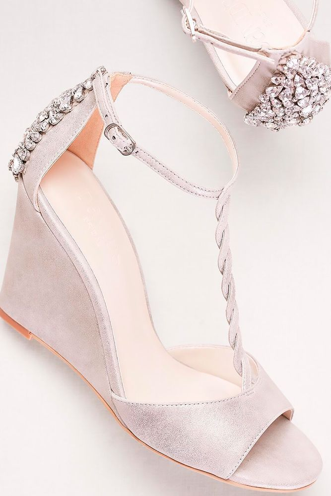 30 Officially The Most Gorgeous Bridal Shoes | Bridal shoes wedges ...