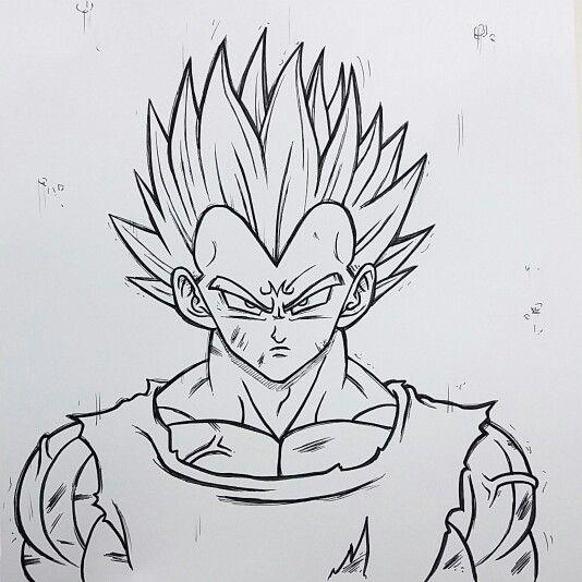 Majin vejeta dragon ball z ilustraciones manga - Vegeta dessin ...