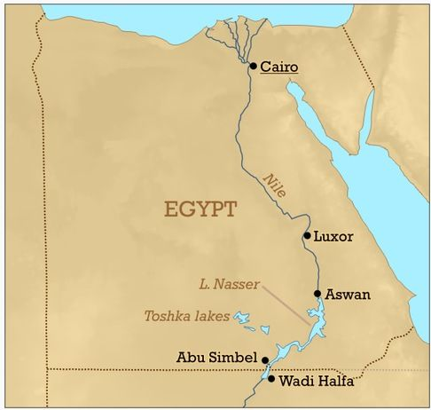 Lake Nasser is located in Egypt and Sudan. | African Geography