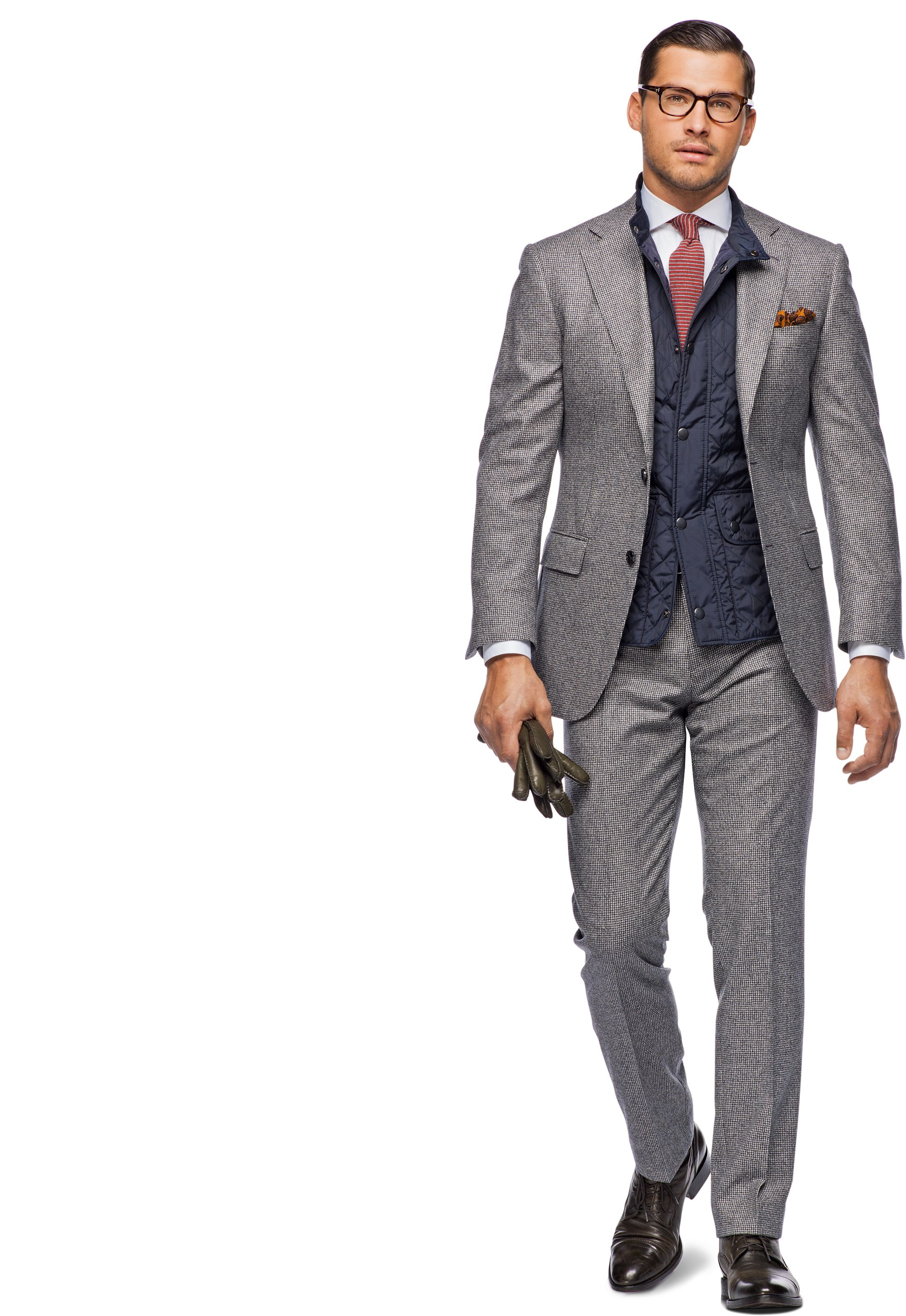 wholesale dealer d7a20 4744a Suit Grey Houndstooth Check Napoli P3439i | Suitsupply ...