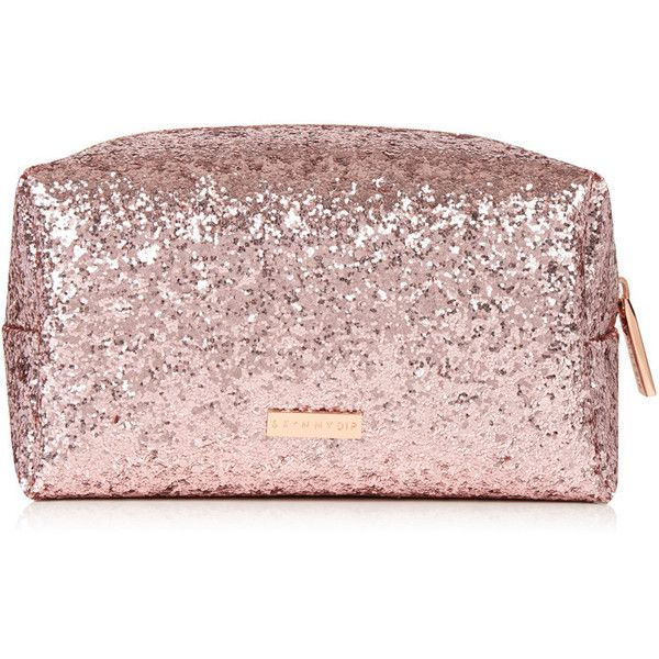 2d9940fc89dd Rose Gold Dita Make Up Bag ($15) ❤ liked on Polyvore featuring ...