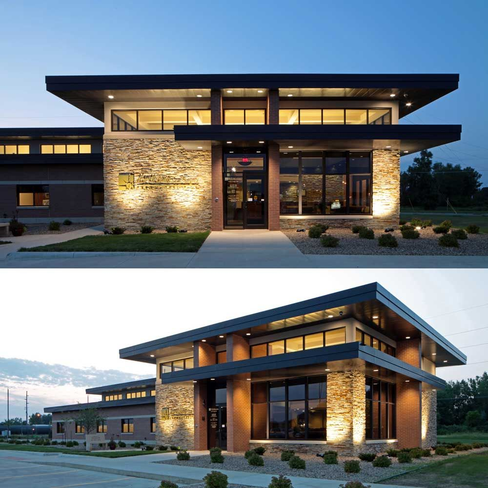 Very Nice Design Like The Natural Light Glass With Stone Seeing A Lot Of Stacking Design Building Design Plan Building Design Office Building Architecture