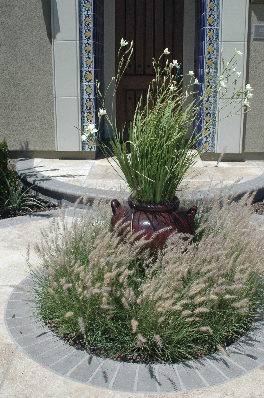 Waving grasses in decorative pottery alamo creek danville ca garden design with grasses - Balkongarten anlegen ...