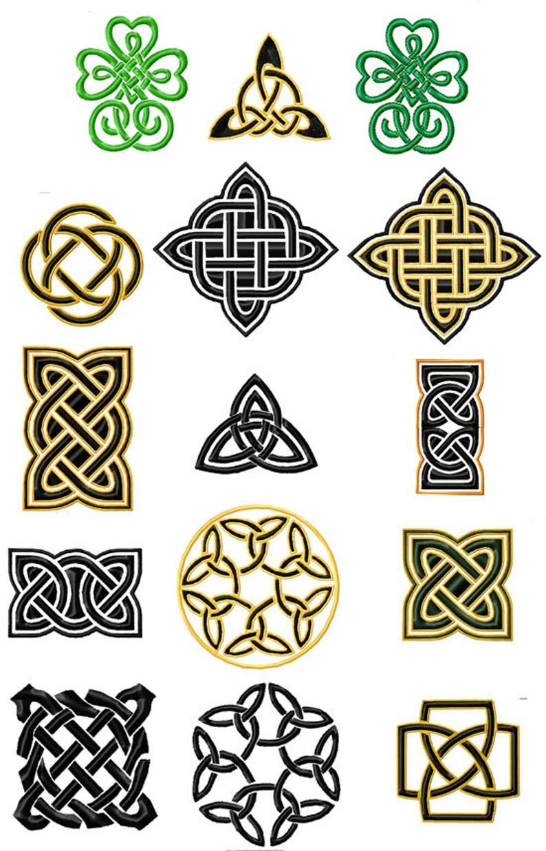 SIMPLE CELTIC KNOTS . Machine embroidery designs Etsy in