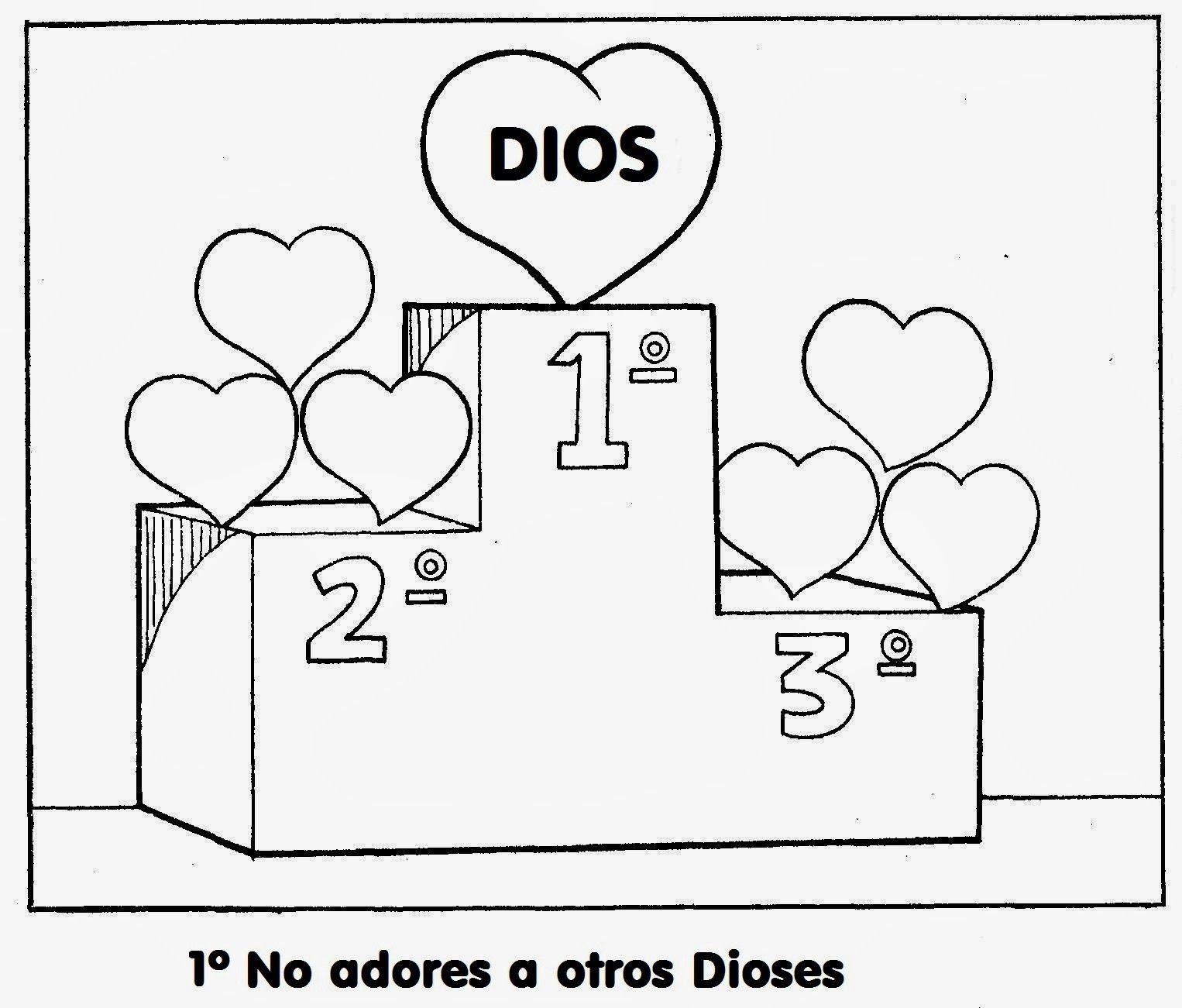 Los Diez Mandamientos para colorear ... | escuela biblica ...