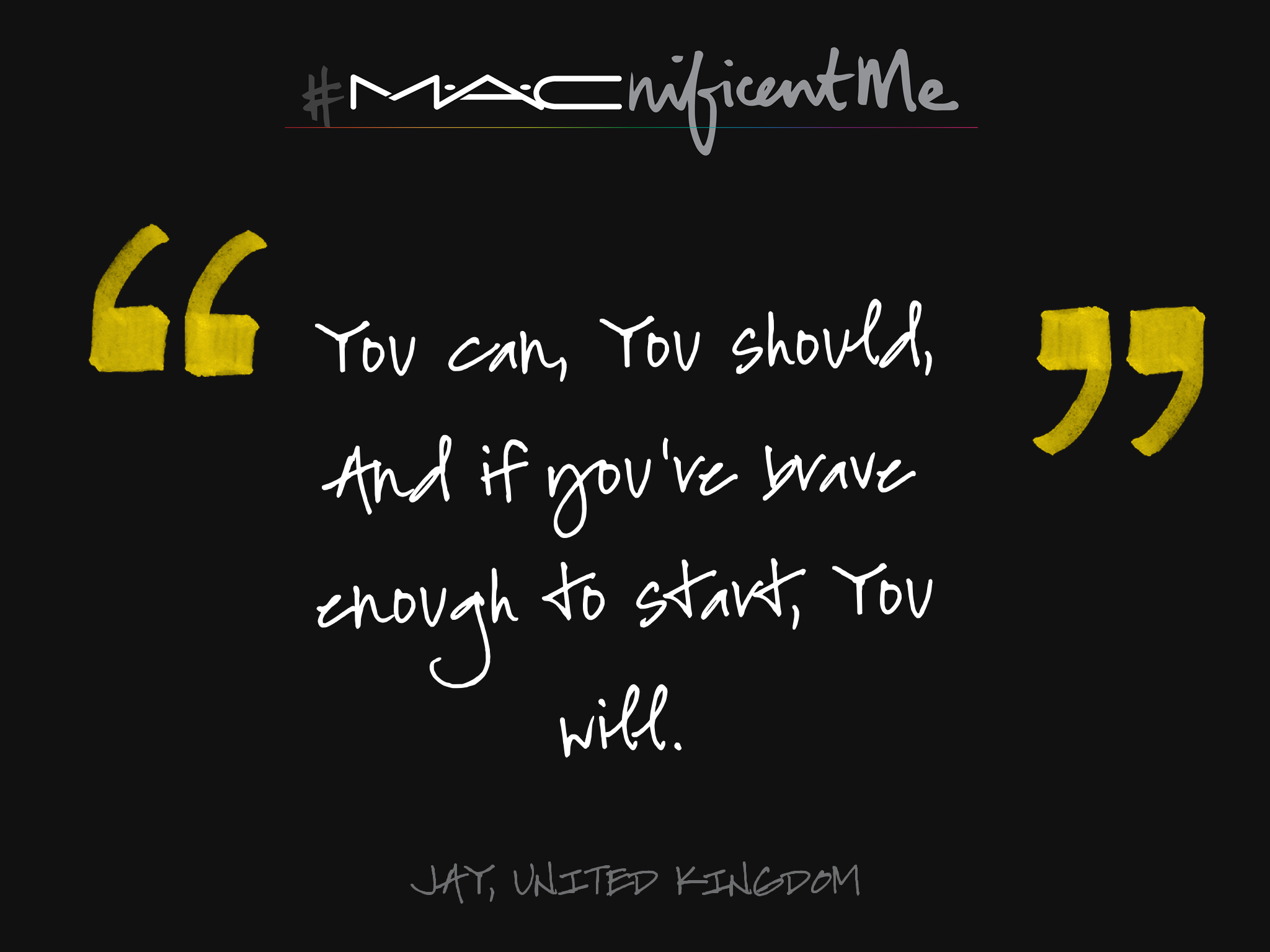 You could win a trip to NYC for a makeover and may become the face of M·A·Cnificent Me!