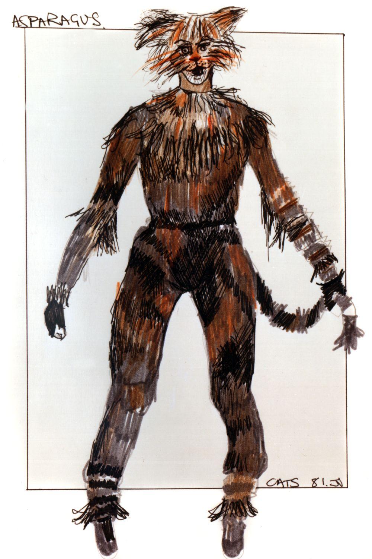 Asparagus original costume design, John Napier 1981