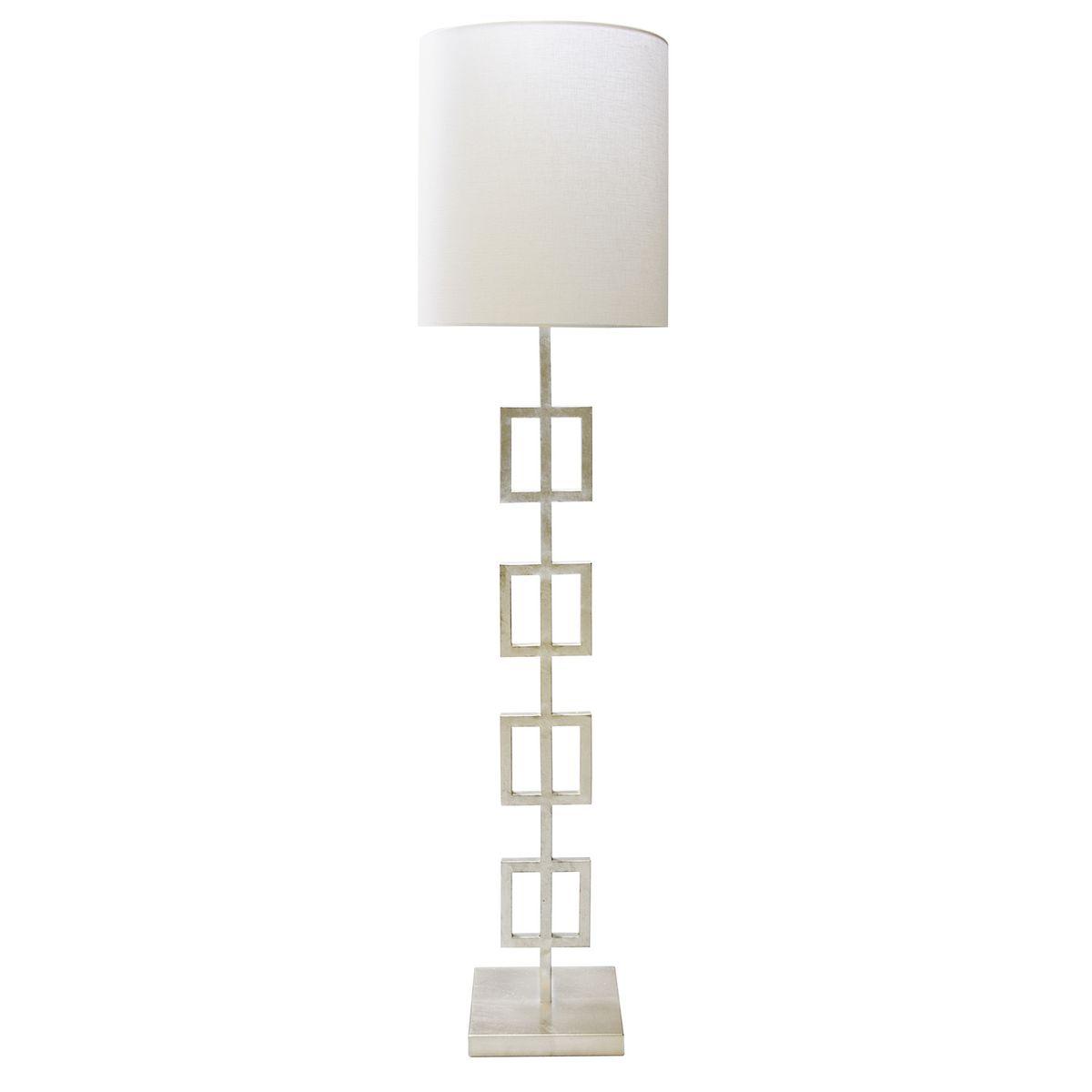 MatthewIzzo.com $622.50 Worlds Away Quinn Silver Leaf Floor Lamp