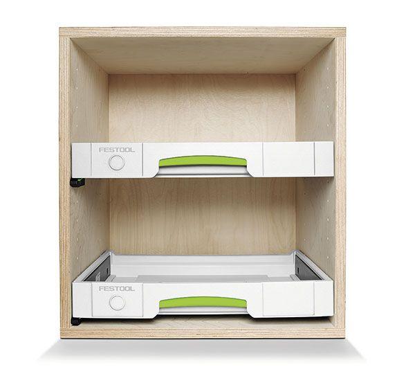 Tiroir festool pour fabrication de meubles systainers for Meuble a tiroir pour atelier