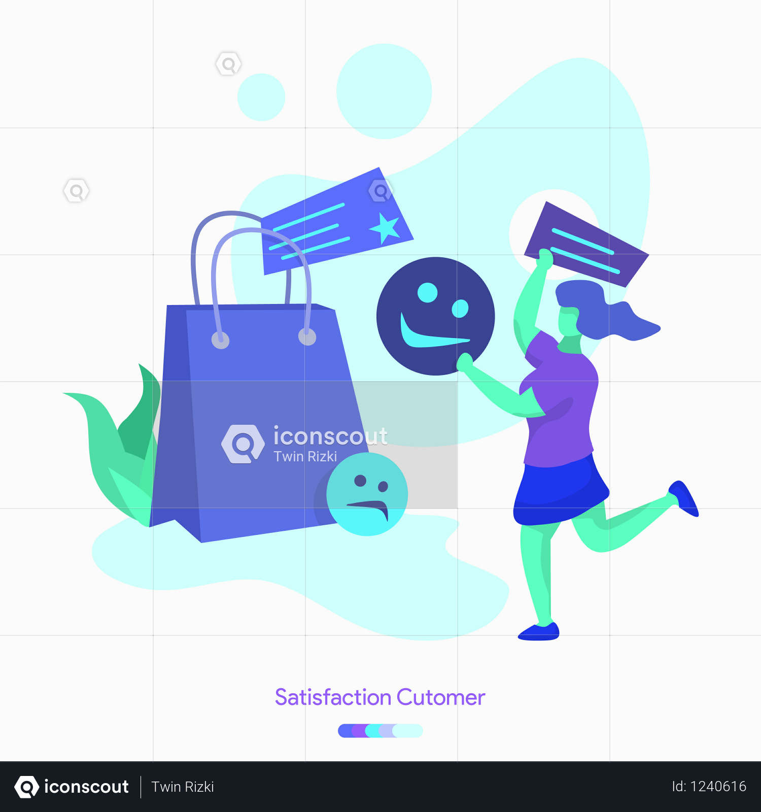 Premium Customer Satisfaction Illustration Download In Png Vector Format Communication Illustration Infographic Marketing Online Marketing Infographic
