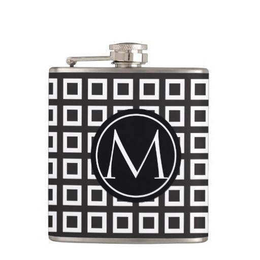 Vector Black and White Elegant Flask Design