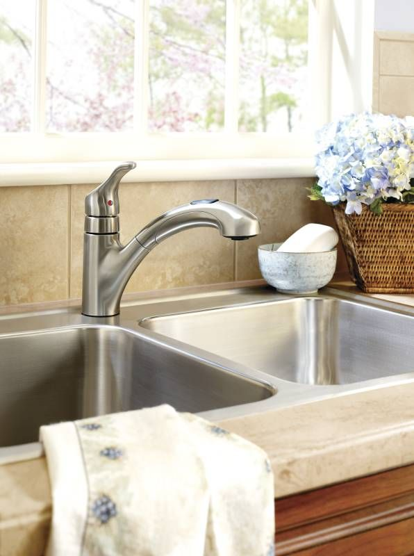 Moen Ca87316srs Renzo Kitchen Faucets Pull Out Kitchen Faucet