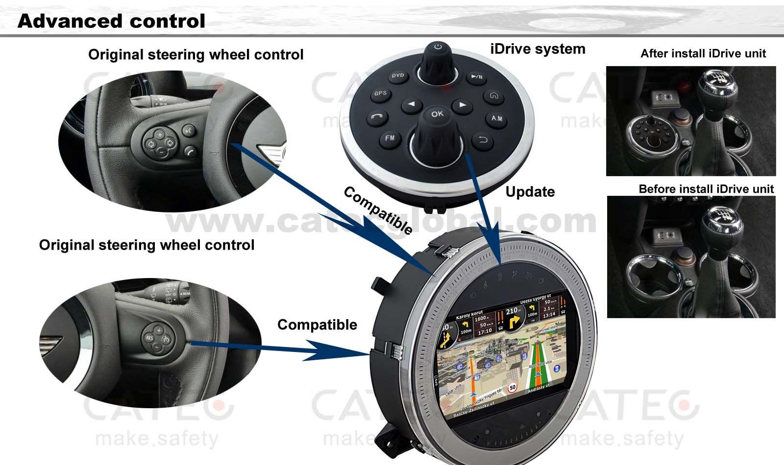 idrive advanced control for mini cooper car gps navigation. Black Bedroom Furniture Sets. Home Design Ideas