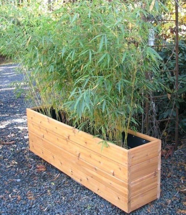 Unglaubliche Außen Pflanzer Boxen Im Freien Hölzerne Pflanzer Boxen Außen Aufregendes Design Für Große #sichtschutzpflanzen